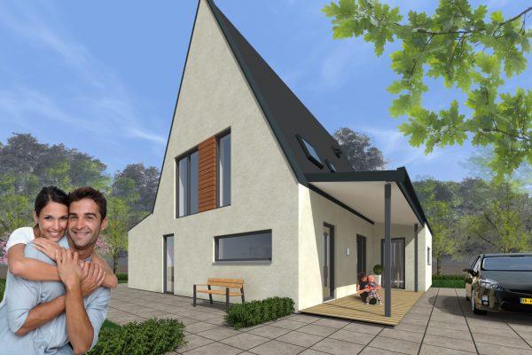 Bouwondernemers ontwerpen betaalbare en unieke duurzame woning